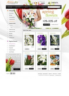Flowers store osCommerce