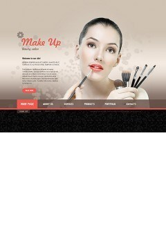 Make Up Studio Easy flash template