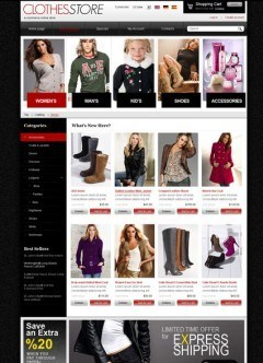 Clothes 2.3 ver. osCommerce