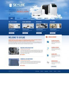 Air Conditioning html dreamweaver template
