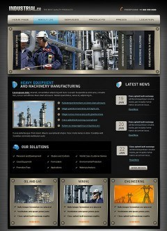 Industrial html dreamweaver template