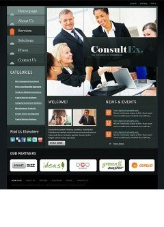 Business Slide Website template