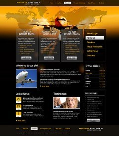 Private Airline html dreamweaver template