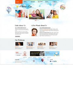 Children Care html dreamweaver template