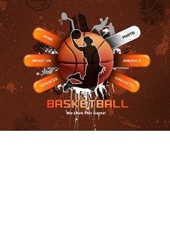 Basketball Easy flash template