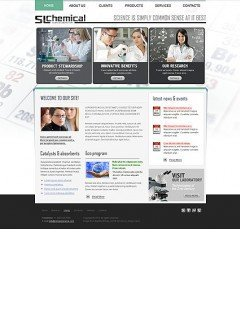 Chemical HTML template