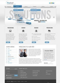 Solutions v2.5 Joomla template