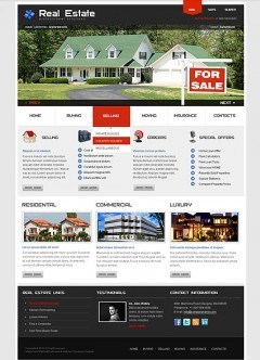 Real Estate html dreamweaver template