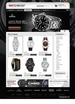 Watch Store 2.3ver osCommerce