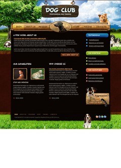 Dog Training html dreamweaver template