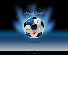 Soccer Easy flash template