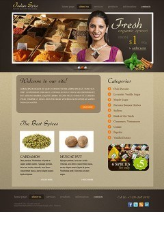 Spices html dreamweaver template