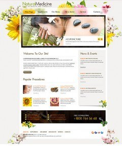 Natural Medicine html dreamweaver template