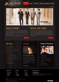 Lawyer Agency html dreamweaver template