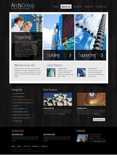 Architecture Design HTML template