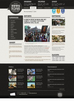 Newspaper html dreamweaver template