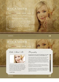 Personal Page HTML5 template