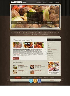 Recipes and catering html dreamweaver template