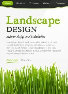 Landscape Design Facebook template