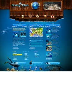 Diving Club html dreamweaver template