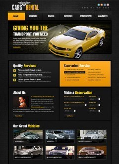Car Rent html dreamweaver template