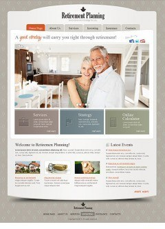 Retirement Planning html dreamweaver template