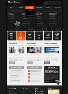 Best Hosting HTML template