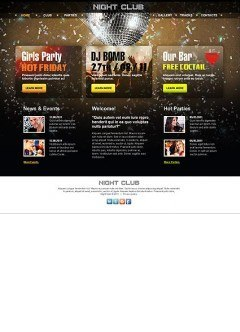 Night Club html dreamweaver template