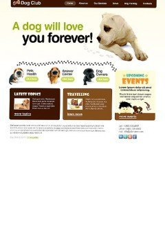 Dog Club html dreamweaver template