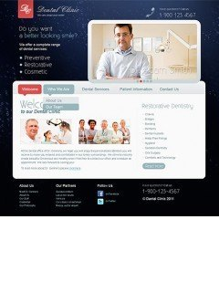 Dental Clinic html dreamweaver template