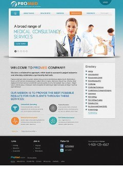 Pro Medical html dreamweaver template