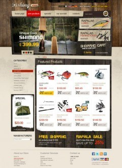 Fishing tackles 2.3ver osCommerce
