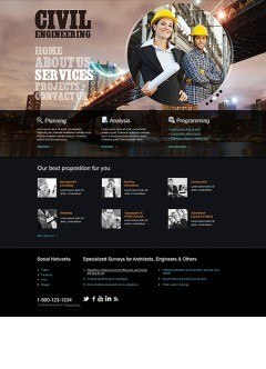 Civil Engineering HTML template