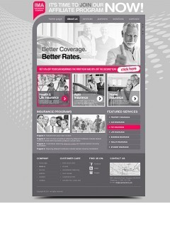 Insurance Company html dreamweaver template