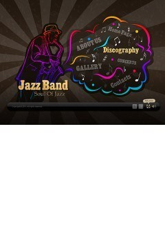 Jazz Band Easy flash template