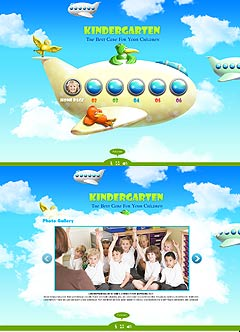 Kindergarten Easy flash template