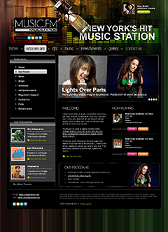 Radio station v2.5 Joomla template