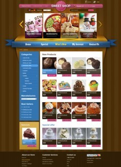 Sweets v2.3 osCommerce