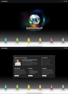 Data Group HTML5 template