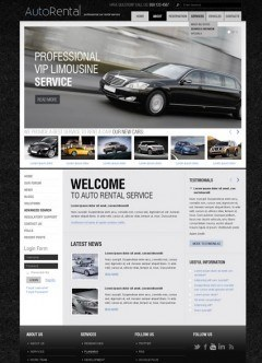 Rent a Car v2.5 Joomla template