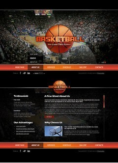Basketball HTML5 template