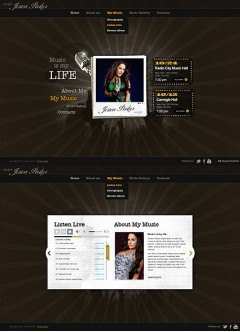 Singer Music HTML5 template
