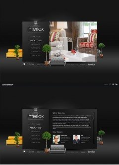 Interior design HTML5 template