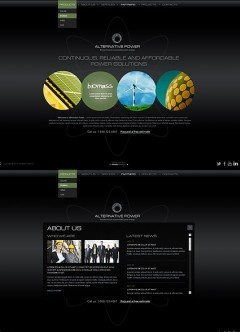 Alternative Power HTML5 template