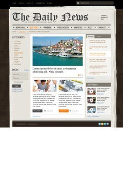 NewsPaper v2.5 Joomla template