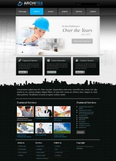 Architex v2.5 Joomla template
