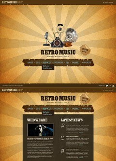 Retro Radio HTML5 template