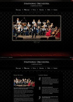 Orchestra HTML5 template