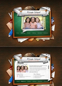 Private School HTML5 template