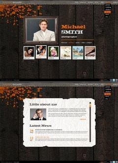 Retro Photographer HTML5 template
